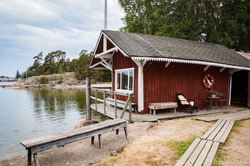 Furuvikin Rantasaunalla voi järjestää jopa 20 henkilön tilaisuuksia.