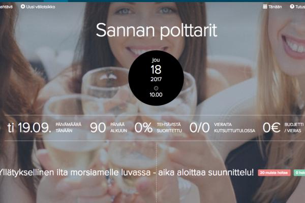 Näin teet juhlallesi oman sivun Juhlat.fi:ssä